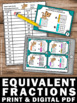 Equivalent Fractions Visual Models Task Cards 3rd Grade Ma
