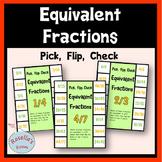 Equivalent Fractions Pick Flip Check