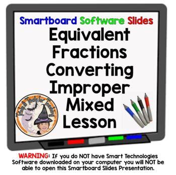 Equivalent Fractions Improper Mixed Converting Convert Sma