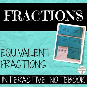 Equivalent Fractions Interactive Notebook Graphic Organize
