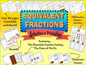 Equivalent Fractions Worksheets and Printables For Third Grade