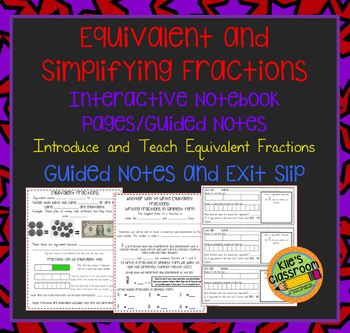 Equivalent Fractions and Fractions in Simplest Form Intera