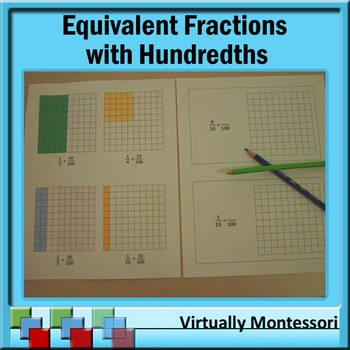 Equivalent Fractions with Hundredths: Booklet, Samples, an