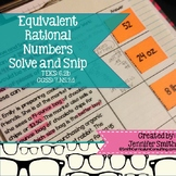 """Equivalent Rational Numbers """"Solve and Snip"""" - Practice Pr"""