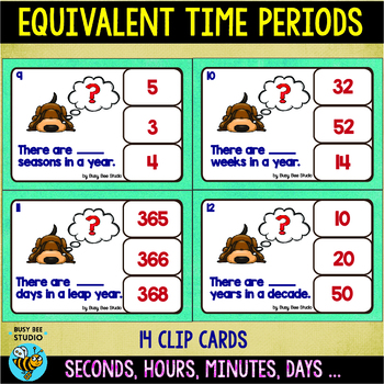 Equivalent Periods of Time: Clip Cards