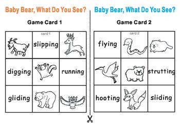 Eric Carle BABY BEAR, What Do You See-Tic Tac Toe Bingo Ga