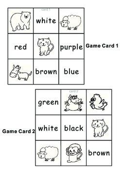 Eric Carle Brown Bear-Tic Tac Toe Bingo Game Cards