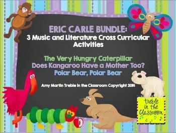 Eric Carle Bundle: 3 Music and Literature Cross Curricular