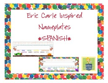 Eric Carle Inspired Classroom - Primary Nameplates or Desk