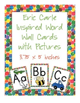 Eric Carle Inspired Classroom - Alphabet Cards with Pictur