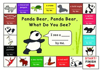 Eric Carle Panda Bear What Do You See?--Game board