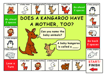 Eric Carle:Does a kangaroo have a mother? Game Board