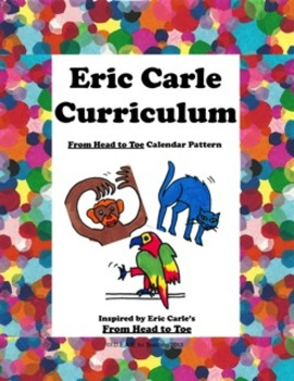 Eric Carle's From Head to Toe Math Calendar Pattern