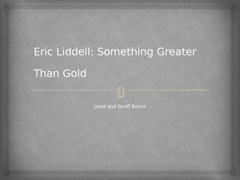 Eric Liddell Introduction