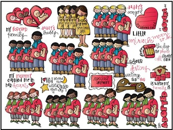 Melonheadz: Adoption clip art - COMBO PACK