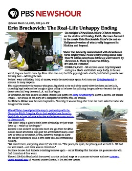 Erin Brockovich Assignment from Unit on Environmental Law