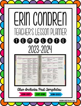 Erin Condren Lesson Plan Template - EDITABLE