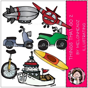 Melonheadz: Things that Go clip art - Combo Pack