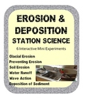 Erosion & Deposition Station Science Lab Activities w/ sim