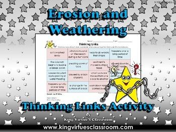 Erosion and Weathering Thinking Links Activity - King Virt