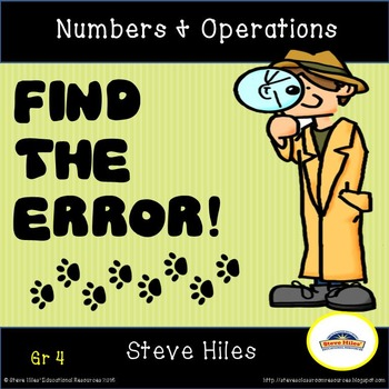 Error Analysis: Find the Error! Numbers & Operations