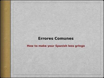 Errores Comunes - Common Errors