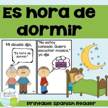 Es hora de dormir Spanish Emergent Reader {Dual language,