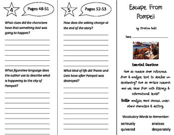 Escape From Pompeii Trifold - ReadyGen 2016 4th Grade Unit