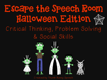 Escape the Speech Room: Halloween - Critical Thinking, Pro