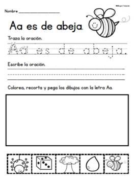 Escribiendo con el Abecedario- Writng with the Alphabet