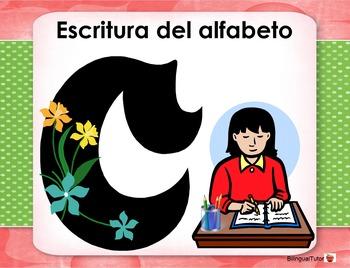 Spanish Alphabet Practice/Escritura del alfabeto