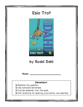 Esio Trot Book Club Packet