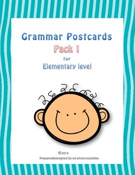 Esl Grammar Postcards Small Pack for Young Learners [with