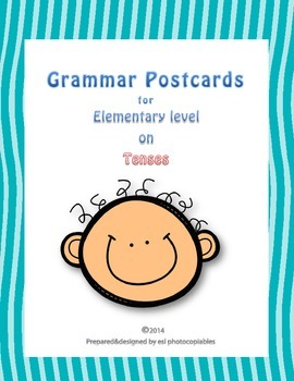 Esl Grammar Postcards on Tenses for Young Learners [with Q