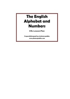 Esl Lesson: The English Alphabet and Numbers