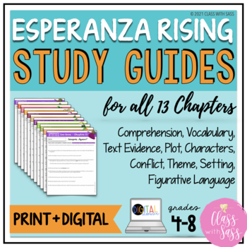 Esperanza Rising: Bundled Study Guides