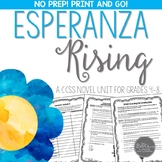 Esperanza Rising Novel Unit for Grades 4-8 Common Core Aligned