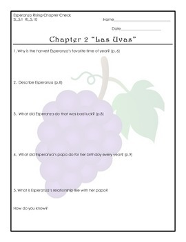 Esperanza Rising Chapter Questions