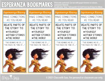 Esperanza Rising Guided Reading Bookmarks