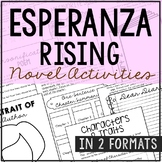 Esperanza Rising Interactive Notebook Novel Unit Study Act