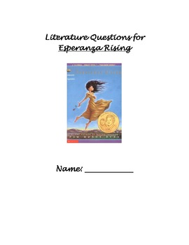 Esperanza Rising Literature Response Log