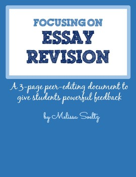 Essay Editing and Revision