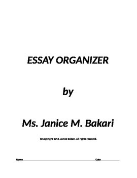 Essay Organizer