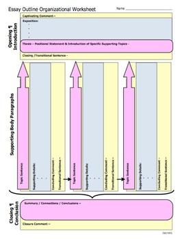 Essay Outline Organizational Worksheet - Color