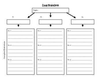 Essay Planning Graphic Organizer