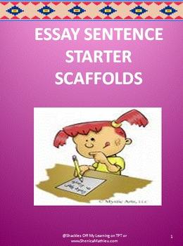 Essay Sentence Starter SCAFFOLD