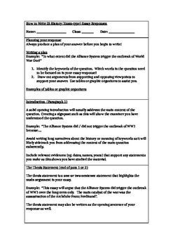 Essay Skills - How To Write Good Essay Type Responses in History