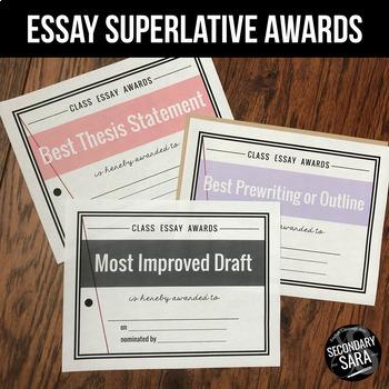 Essay Superlatives: Peer and Teacher Feedback for Student