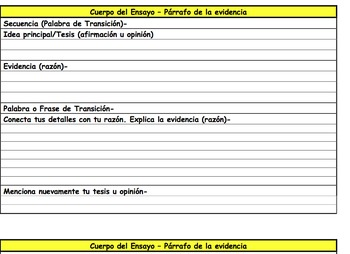 Free Essay Template for Developing Evidence Graphic Organi