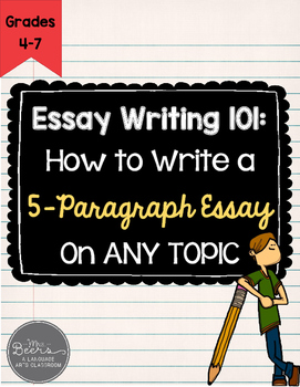 Essay Writing 101: CCSS Essay Writing FREEBIE